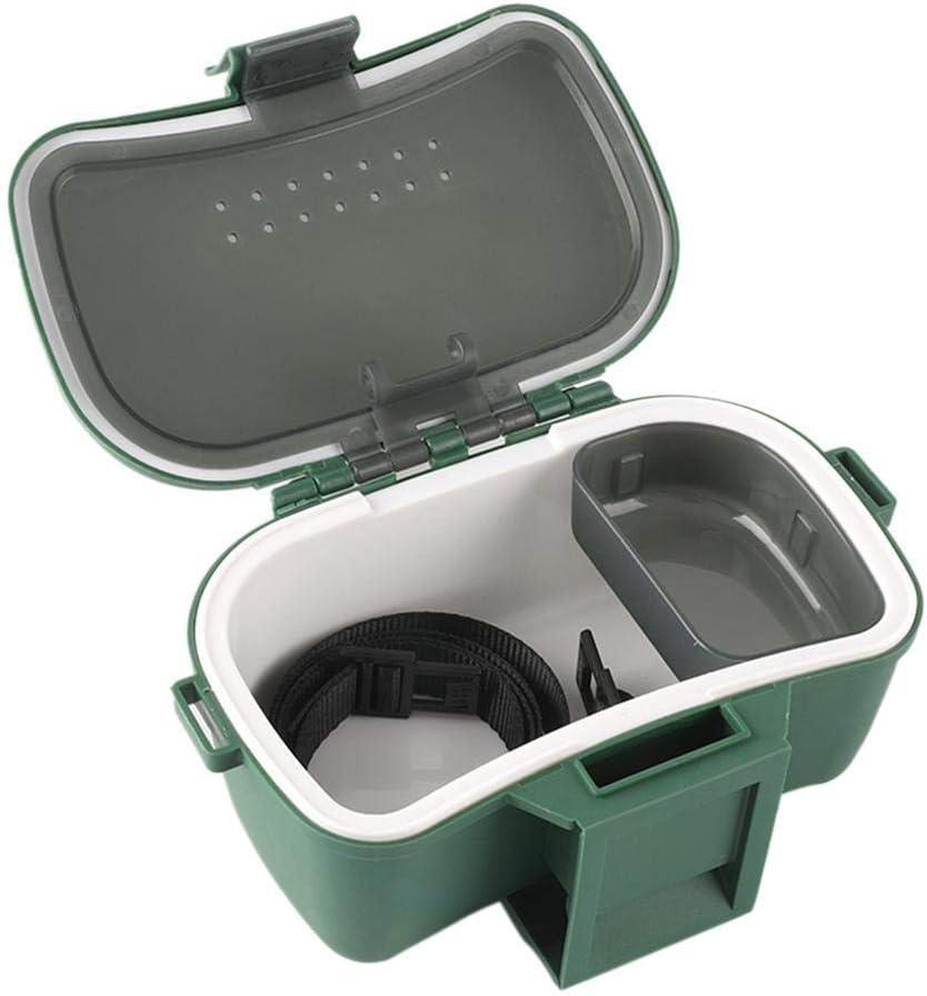 SYXX Pesca multifuncional cebo Caja de almacenamiento, Pesca aislado plástico caja de almacenamiento, Pesca y transpirable cebo caja, Pesca gusano vivo cebo Caja de cebo vivo Red Box lombriz de tierra: Amazon.es: