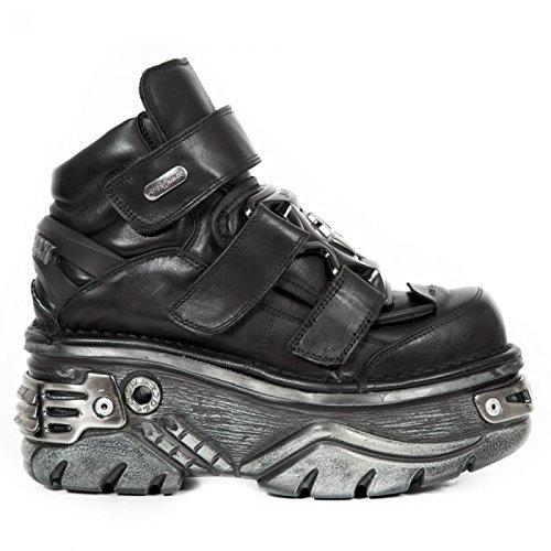 New Rock Boots M.285-r3 Gotico Hardrock Punk Unisex Stiefelette Schwarz