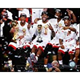 Dwyane Wade, LeBron James, Chris Bosh, & Norris Cole Game 7 of the 2013 NBA Finals Art Poster PRINT Unknown 10x8