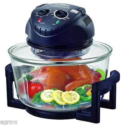 Rapid Wave Convection Countertop Halogen Oven 17 Quart For Easter Day with Ring (The Sharper Image Super Wave Halogen Oven)
