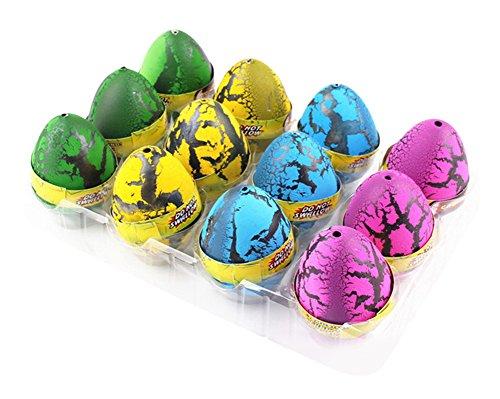 RoseSummer 1 pcs Large Cute Magic Hatching Growing Pet Dinosaur Eggs For Kids (Random color )