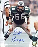 #9: Bill Bergey (Philadelphia Eagles) Autographed/ Original Signed 8x10 Color Action-photo Showing Him in the 1970s