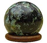 La curación de cristal Reikiera la bola cristalina de la piedra natural de la piedra preciosa de la esfera de Reiki con el anillo Stand, seleccione un tamaño