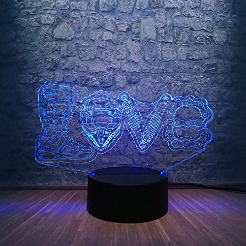 JFSJDF New 2019 3D LED Night Light Desk Table Lava Lamp RGB Blub 7 Color Change Love Shoes Chain Tool Boy Kid Toys Children Gift