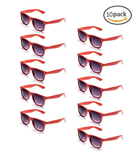 100% UV Protection Wholesale Multi PACK Unisex 80'S Retro Style Promotional Sunglasses, Purple (Red - Promotional Sunglasses