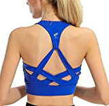 Cheap freeskin Fitness Women Sport Bra Fitness Padded Yoga Bra Workout Gym Top(2171Blue,S)