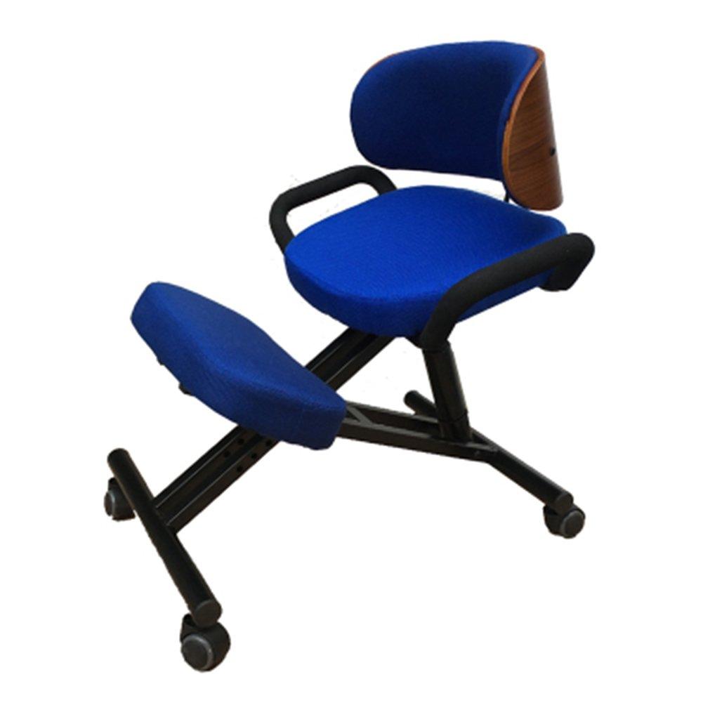 PENGFEI 人間工学に基づいた膝の椅子 チェア 事務所 コンピューター 十代の若者たち 矯正姿勢 近視の予防 高さ調節可能 プーリー メッシュクッション 2色、 2仕様 (色 : 青, サイズ さいず : 2#) B07C25WQM5 2#|青 青 2#