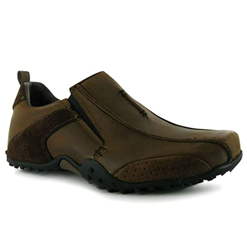 Skechers - Mocasines para hombre, color marrón, talla 42.5