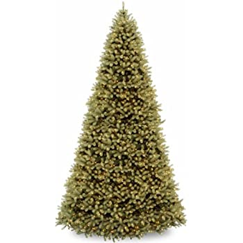 national tree 12 ft downswept douglas fir tree with clear lights - 12 Foot Christmas Trees