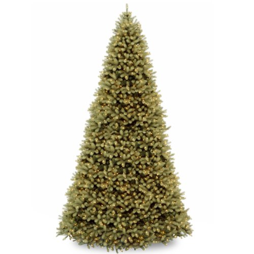National Tree 12 ft. Downswept Douglas Fir Tree with Clear Lights