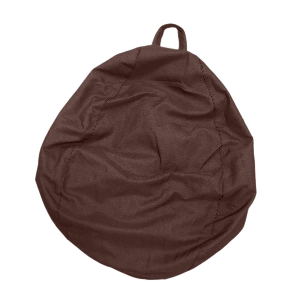 Homyl EXTRA LARGE Stuffed Animal Storage Bean Bag Chair Cover - for Toy Storage for Kids - 95x75cm (37x29inch) - Coffee