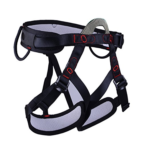 Black Diamond Gorilla Chalk Bag (Half Body Rock Climbing Adult Harness Safe Seat Belts For Mountaineering Outward Band Fire Rescue Working on the Higher Level Caving Rock Climbing Rappelling Equip for Women Man Child)