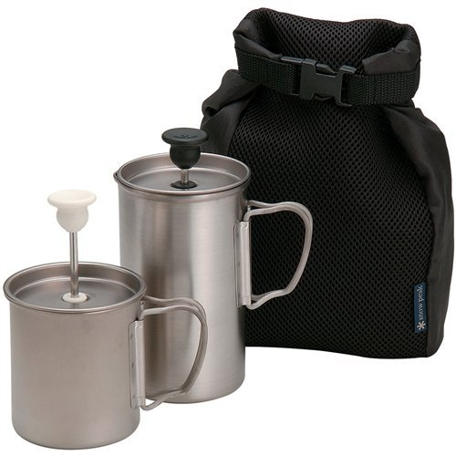 Snow Peak Cafe Latte Press (2-Piece) (Coffee Titanium Press)