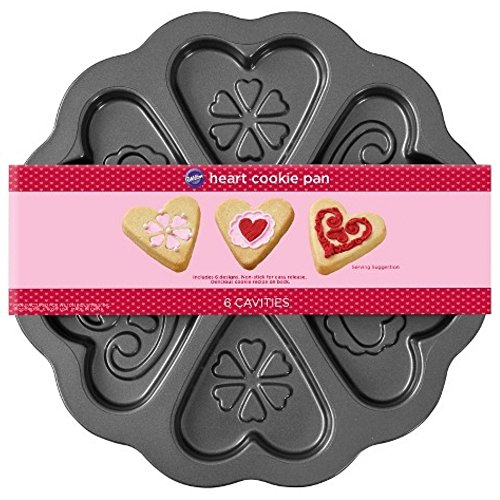Wilton 6 Cavity Designer Heart Scalloped Cookie Pan