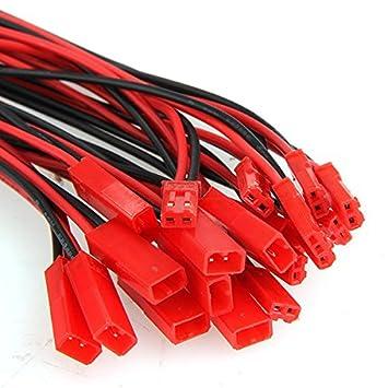 10 Paar 150mm JST Adapterkabel Stecker Buchse mit Kabel Draht ...