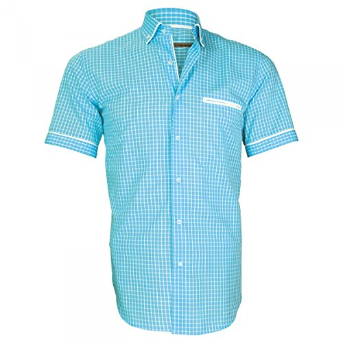 Dixon Shirt Mc Vichy Andrew Allister Turquoise X7tyS
