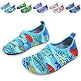 L-RUN Girls Boys Water Shoes Barefoot Aqua Socks Comfort Blue 12.5-13=EU 30-31