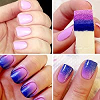 AutumnFall® Nail Art Sponges Stamping Polish Template Transfer Manicure DIY Tool