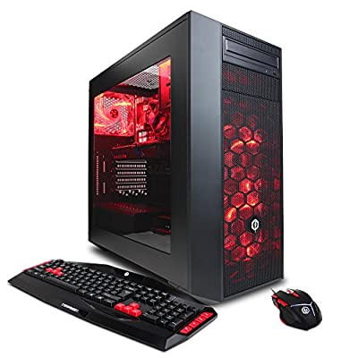 CYBERPOWERPC Gamer Xtreme VR GXiVR8040A w/ Intel i7-6700K 4.0GHz CPU, 8GB DDR4, 2TB HDD, 120GB SSD, 24X DVD+-RW, AMD RX 480 4GB, Wi-Fi USB Adapter, Win 10 Home 64-Bit Desktop Gaming PC