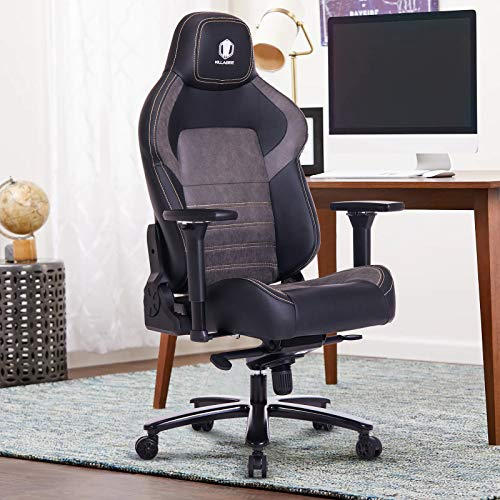 KILLABEE Big and Tall 440lb Memory Foam Gaming Chair - Gel Cold Cure Foam Lumbar/Seat Cushion & 4D Adjustable Arms, Heavy Duty Metal Base, Swivels & Reclines Ideal for Gamers & Office Workers KILLABEE