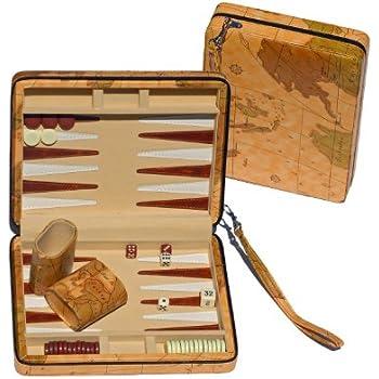 Amazon wood travel backgammon set 6 toys games we games tan map style travel backgammon publicscrutiny Choice Image