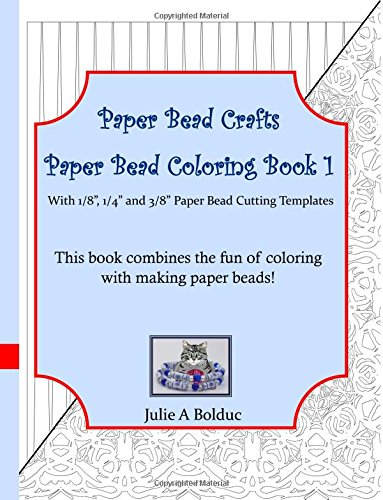 Paper Bead Crafts Paper Bead Coloring Book 1: With 1/8