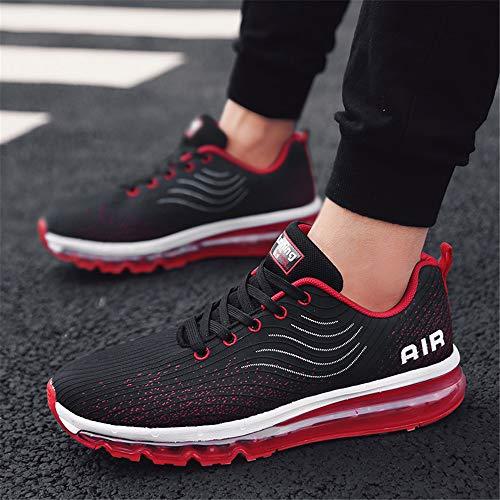 Monrinda Da All'aperto Cuscino Black Casual Running D'aria Red Uomo Donna Ginnastica Fitness Sneakers Scarpe Corsa F4xqFr