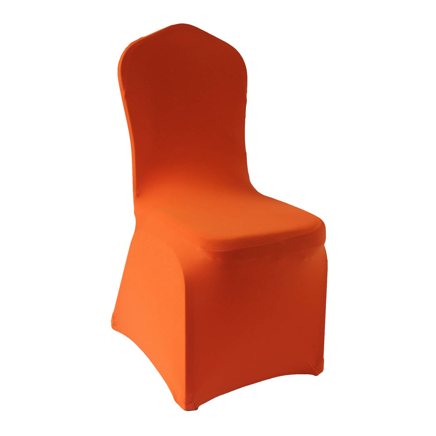 Amazing Orange Stretch Spandex Chair Covers 12 Pcs Wedding Party Dining Scuba Elastic Chair Covers Orange 12 Gmtry Best Dining Table And Chair Ideas Images Gmtryco