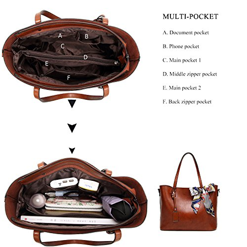 BNWVC Women Top Handle Satchel Handbags Tote Purse Shoulder Bag