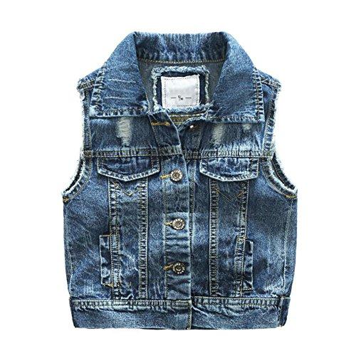 - Motteecity Fashion Boys Casual Ripped Denim Stylish Sleeveless Jacket Vest 4T