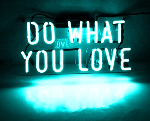 Night Light lamp Decor Neon Light Sign Beer Bar Custom Home Lighting Decorations - Perfect for Bedroom, Living Room, Hallway, Stairways, Office, Garage, Windows - DO WHAT YOU LOVE by Good Vibes Only
