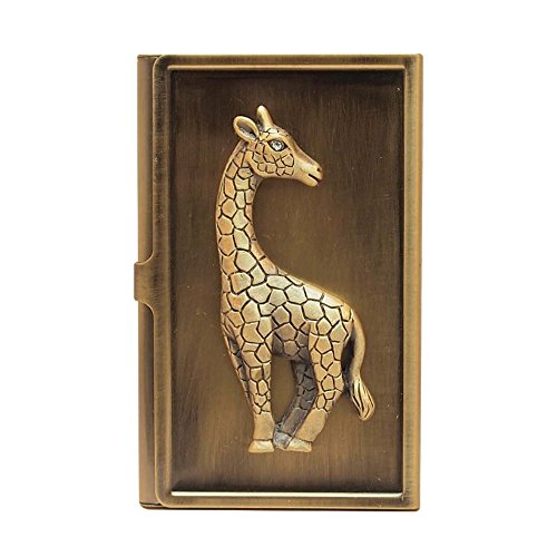 Brass Giraffe - All For Giving Giraffe Business Card Carrying Case, Brass