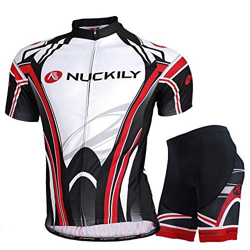 NUCKILY Men s Moisture Wicking Cycling Apparel SS Jersey Short Large d9c936458