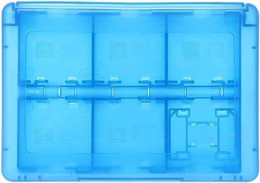 JunYe - Estuche Protector 24 en 1 para Tarjetas de Juego y Cartuchos, Caja organizadora a Prueba de Golpes, portátil, para Nintendo Switch 3DS 2DS/DS Lite/DSL, Color Rosa Azul: Amazon.es: Electrónica