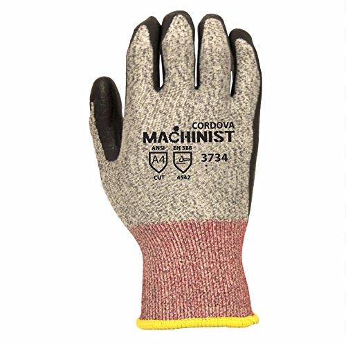 MACHINIST 3734XL HPPE Gloves, 13-Gauge, Nitrile Coating, Cut Level 4, X-Large - (6-Pack)