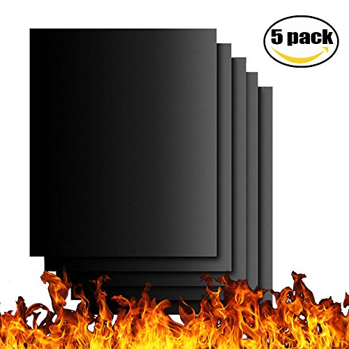 ACCTENIK Grill Mat Set of 5, Non-stick BBQ Grill Mat Baking