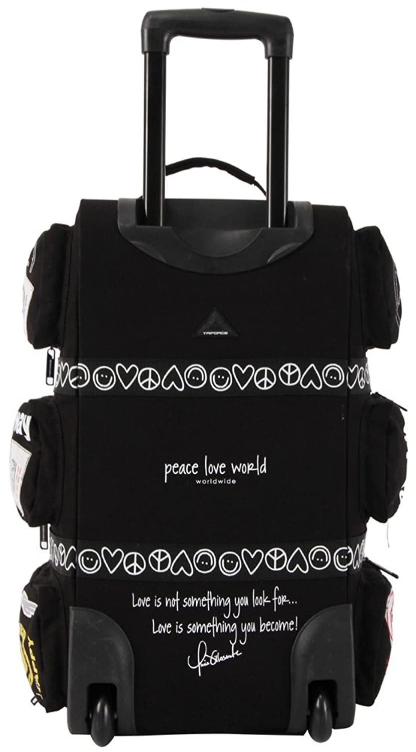 Triforce Peace Love World Rolling Duffel  Carry On Lug E Black Amazon Ca Clothing Accessories