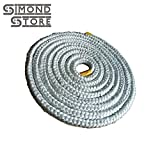 3/4'' Thick Round Fiberglass Rope (Wick Bulk) Seal 12 ft. roll for Wood Stove Door Gasket, Bottle Oil Lamps, Tiki Torches, Rock Candles, DIY Projects
