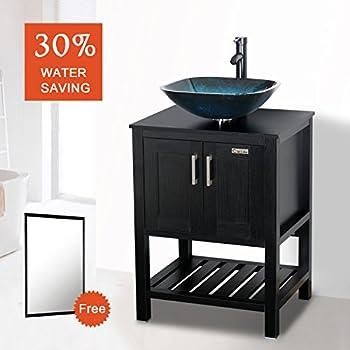 Eclife 24 39 39 modern bathroom vessel sink and vanity combo - Bathroom vessel sink vanity combo ...