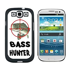 Bass Hunter - Fish Fishing Fisherman - Snap On Hard Protective Case for Samsung Galaxy S3 - Black by icecream design