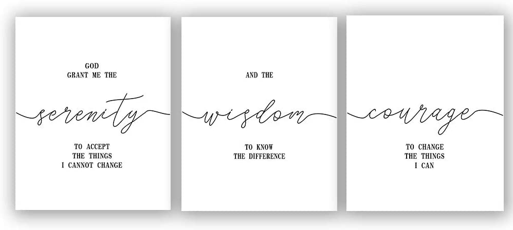 """Inspirational Quote&Saying Typography Art Print Set of 3 (8""""X10"""" Canvas Painting,Motivational Phrases Wall Art Poster for Living Room Home Decor,No Frame"""