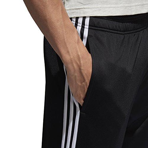 af31afeb9b8b1 adidas Men's Athletics Essential Tricot 3 Stripe Tapered Pants,  Black/White, Medium