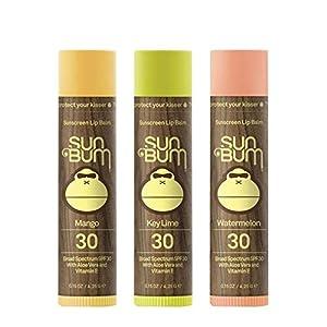 Sun Bum SPF30 Lip Balm Mango, Lime, Watermelon 3-pack