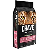 Crave Grain Free With Protein From Chicken & Salmon Dry Indoor Adult Cat Food, 10 Pound Bag Larger Image