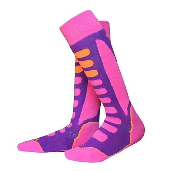 Yying Calcetines de esquí para hombres Hombres Mujeres Niños Calcetines de esquí de alto rendimiento para