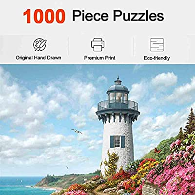 Lovinouse Premium 1000 Pieces Puzzles, Adults Teens Kids Jigsaw Puzzle Gift, Home Game, Harbour of The Soul: Toys & Games