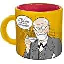 Freudian Sips Coffee Mug - Undo Years Of Repression While You Drink Your Coffee - Comes in a Fun Gift Box - by The Unemployed Philosophers Guild