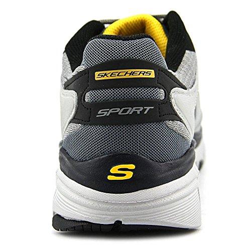 Skechers Bravos Rush Storm Mens Sneakers Grigio Chiaro / Nero