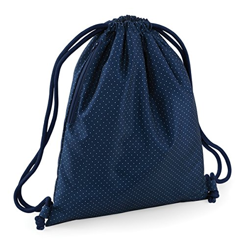 Price comparison product image BagBase Shoulder Bag for Gym Graphic drawstring backpack 15L 40x48cm Navy Polka Dot