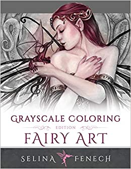 fairy art grayscale coloring edition grayscale coloring books by selina volume 1